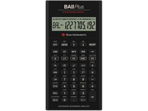 """Texas Instruments BAII Plus Professional Calculator - 10 Digit(s) - Battery Powered - 1.3"""" x 6.9"""" - 1 Each"""