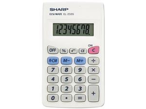 Sharp EL233SB EL233SB Pocket Calculator, 8-Digit LCD