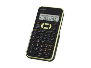 Sharp EL-531XBGR Scientific Calculator 272 Functions - 2 Line(s) - 12 Character(s) - LCD - Battery Powered - Black, Green