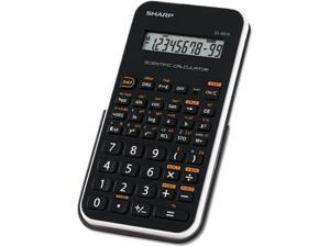 """Sharp EL501X Scientific Calculator 131 Functions - 1 Line(s) - 10 Character(s) - LCD - Battery Powered - 3.3"""" x 6"""" x 0.5"""" - Black, White"""