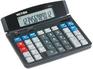 Victor 1200-4 12 Digit Professional Desktop Calculator Black