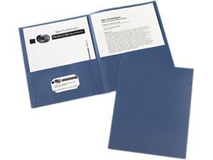 Avery Two-Pocket Folders, 25 Folders, Dark Blue (47985)