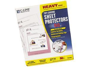 C-line 62013 Top-Load Poly Sheet Protectors, Heavy Gauge, Letter, Clear, 50/Box
