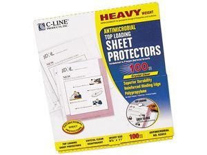 C-line 62033 Top-Load Sheet Protectors, 3-Hole Punched, Letter, 100/Box