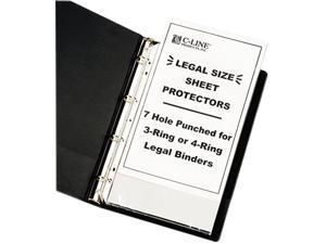 C-line 62047 Top-Load Polypropylene Sheet Protectors, Heavy, Legal, Clear, 50/Box