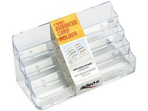 Deflect-o 70801 Eight-Pocket Business Card Holder, Capacity 400 Cards, Clear