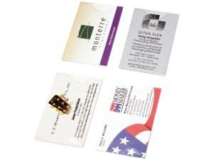 Day-Timer 87225 Business Card Holders for Looseleaf Planners, 5 1/2 x 8 1/2, 5/Pack
