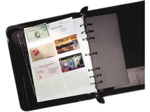 Day-Timer 87325 Business Card Holders for Looseleaf Planners, 8 1/2 x 11, 5/Pack