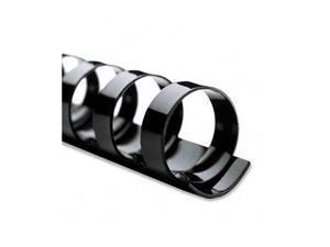 "4000020 GBC CombBind Standard Spines, 1/4"" Diameter, 25 Sheet Capacity, Black, 100/Box"