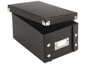 Snap-N-Store SNS01577 Snap 'N Store Collapsible Index Card File Box Holds 1,100 4 x 6 Cards, Black