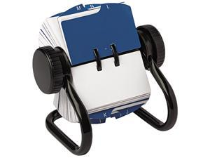 Rolodex 66700 Open Rotary Card File Holds 250 1 3/4 x 3 1/4 Cards, Black