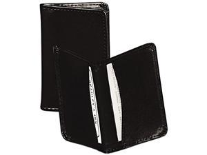 Samsill 81220 Regal Leather Business Card Wallet Holds 25 2 x 3 1/2 Cards, Black