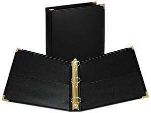 "Samsill 15150 Classic Collection Ring Binder Portfolio, 11 x 8-1/2, 1-1/2"" Capacity, Black"