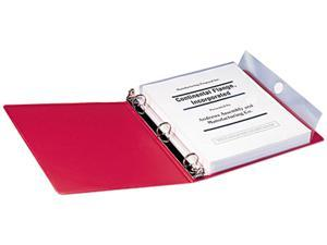 Smead 89500 Poly Ring Binder Pockets, 9 x 11-1/2, Clear, 3/Pack