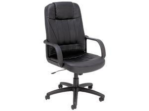 Alera ALESP41LS10B Alera Sparis Series Executive High-Back Swivel/Tilt Chair, Leather, Black