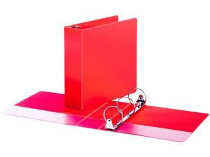 "Universal UNV30409 Economy Non-View Round Ring Binder, 3 Rings, 3"" Capacity, 11 x 8.5, Red"