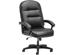 HON Pillow-Soft Executive Chair - High-Back Leather Computer Chair for Office Desk,  Black (H2095)