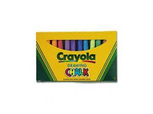 "Crayola 510403 Colored Drawing Chalk, 3.18 "" x 0.375 "" Chalk Size - Assorted Chalk - 12 / Pack"