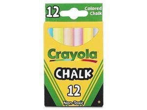 Crayola 51-0816 Chalk, Assorted Colors, 12 Sticks/Box