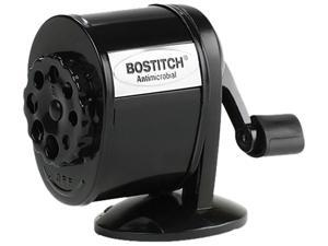 Stanley Bostitch MPS1-BLK Table-Mount/Wall-Mount Antimicrobial Manual Pencil Sharpener, Black