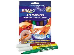 Dixon 80680 Washable Markers, Eight Assorted Colors, 8/Set