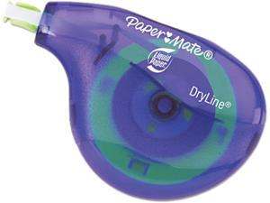 "Paper Mate Liquid Paper 6137406 DryLine Correction Tape, Non-Refillable, 1/6"" x 472"", 10/Pack"