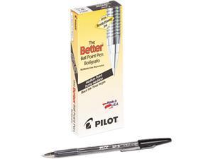 Pilot 35711 Better Ballpoint Stick Pen, Black Ink, Medium, Dozen