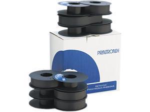 Printronix 107675007 Text Printer Ribbon, 50M Yield, Black, 6/box