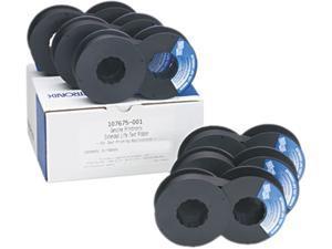 Printronix 107675001 Printer Ribbon, 30M Yield, Black, Six per Box
