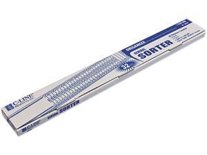 C-line 30532 General Sorter, A-Z/1-31/1000-1,000,000 Index, Letter Size, Plastic, Blue