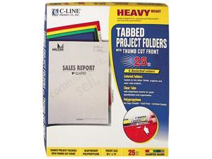 C-line 62130 Project Folders, Jacket, Letter, Poly, Assorted Colors, 25/Box