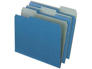 Pendaflex Earthwise 04302 Recycled File Folders, 1/3 Cut Top Tab, Letter, Blue, 100/Box