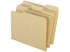 Pendaflex Earthwise 04342 Recycled File Folders, 1/3 Cut Top Tab, Letter, Natural, 100/Box
