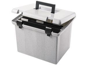 Pendaflex 41747 Portafile File Storage Box, Letter, Plastic, 14-7/8 x 12-1/8 x 11-7/8, Granite