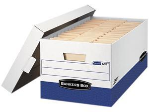 "Bankers Box 0063201 Presto Maximum Strength Storage Box, Lgl 24"", 15"" x 24"" x 10"", WE, 12/Carton"