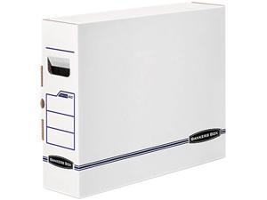 Bankers Box 00650 X-Ray Storage Box, Film Jacket Size, 5 x 14-7/8 x 18-3/4, White/Blue, 6/Carton