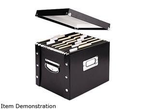 Snap-N-Store SNS01533 Snap N Store Storage Box, Letter, 13 3/8 x 9 3/4 x 10 3/4, Black