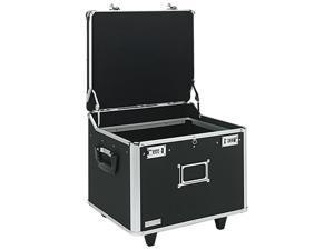 Vaultz VZ01270 Lock Mobile File Chest Storage Box, Letter/Legal, Black