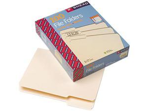 Smead 10331 File Folders, 1/3 Cut First Position, One-Ply Top Tab, Letter, Manila, 100/Box