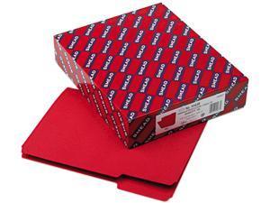 Smead 10267 Interior File Folders, 1/3 Cut Top Tab, Letter, Red, 100/Box