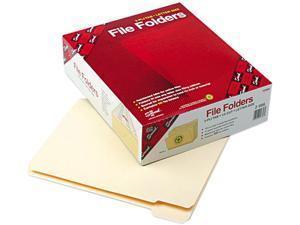 Smead 10356 File Folders, 1/5 Cut, Reinforced Top Tab, Letter, Manila, 100/Box