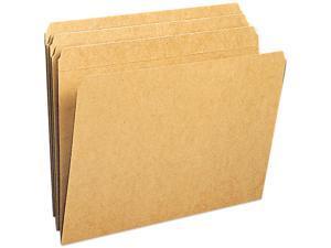 Smead 10710 Kraft File Folders, Straight Cut, Reinforced Top Tab, Letter, Brown, 100/Box