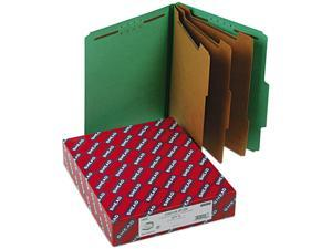 """Smead 14097 3"""" Expansion Classification Folder, 2/5 Cut, Letter, Eight-Section, Green, 10/Bx"""