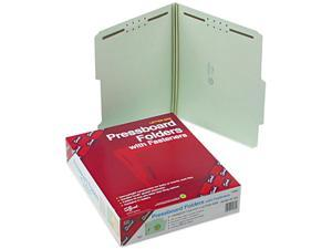 Smead 14982 Two Inch Expansion Fastener Folder, 2/5 Top Tab, Letter, Gray Green, 25/Box