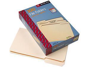 Smead 15330 1/3 Cut Assorted Position File Folders, One-Ply Top Tab, Legal, Manila, 100/Box