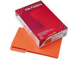 Smead 17534 File Folders, 1/3 Cut, Reinforced Top Tab, Legal, Orange, 100/Box