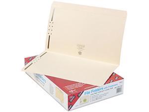 Smead 19513 Folders, Two Fasteners, Straight Cut, Top Tab, Legal, Manila, 50/Box