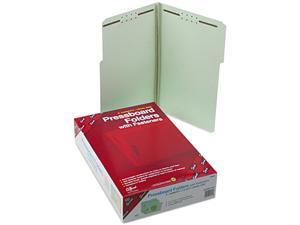Smead 19944 Three Inch Expansion Fastener Folder, 1/3 Top Tab, Legal, Gray Green, 25/Box