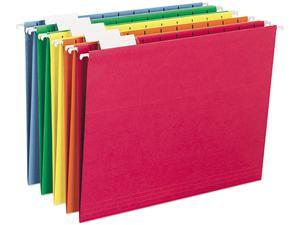 Smead 64059 Hanging File Folders, 1/5 Tab, 11 Point Stock, Letter, Assorted Colors, 25/Box