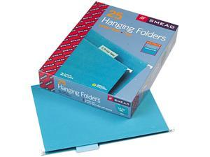 Smead 64074 Hanging File Folders, 1/5 Tab, 11 Point Stock, Letter, Teal, 25/Box